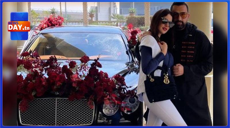 أهداها سيارة باهضة الثمن / درّة تحتفل مع زوجها بعيد الحب (صور)