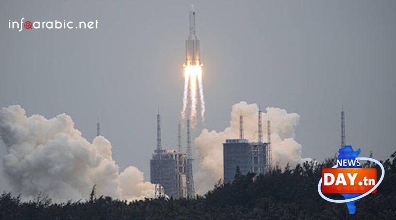 سقوط الصاروخ الصيني