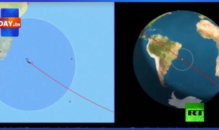 مسار الصاروخ الصيني